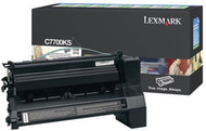 Lexmark C7700KS Black Return Program Toner Cartridge Original Genuine OEM