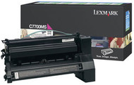 Lexmark C7700MS Magenta Return Program Toner Cartridge Original Genuine OEM