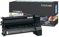 Lexmark C7700MS Magenta Return Program Toner Cartridge Original Genuine OEM