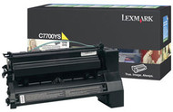 Lexmark C7700YS Yellow Return Program Toner Cartridge Original Genuine OEM