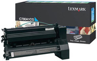 Lexmark C780A1CG Cyan Return Program Toner Cartridge Original Genuine OEM