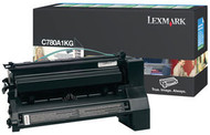 Lexmark C780A1KG Black Return Program Toner Cartridge Original Genuine OEM