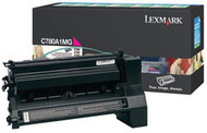 Lexmark C780A1MG Magenta Return Program Toner Cartridge Original Genuine OEM