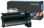 Lexmark C780A1YG Yellow Return Program Toner Cartridge Original Genuine OEM
