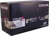 Lexmark C792A1MG Magenta Return Program Toner Cartridge Original Genuine OEM