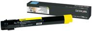 Lexmark C950X2YG Extra High Yield Yellow Laser Toner Cartridge Original Genuine OEM