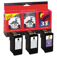 Lexmark 18C1517 (#32/#33) Ink Cartridge Combo Pack (2 Bk & 1 Clr) Original Genuine OEM