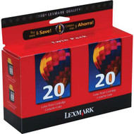 Lexmark 15M1375 Color Ink Cartridge 2-pack Original Genuine OEM