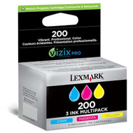 Lexmark 14L0268 (#200 C/M/Y) Ink Cartridge Combo Pack (C/M/Y) Original Genuine OEM