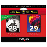 Lexmark 18C1590 (#28/#29) Ink Cartridge Return Program Combo Pack (Bk & Clr) Original Genuine OEM