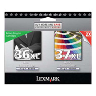Lexmark 18C2249 (#36XL/#37XL) Ink Cartridge Return Program High Yield Combo Pack (Bk & Clr) Original Genuine OEM