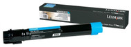 Lexmark X950X2CG Extra High Yield Cyan Toner Cartridge Original Genuine OEM