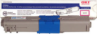 Okidata 44469721 High Yield Cyan Toner Cartridge Original Genuine OEM