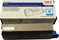 Oki 43866103 Cyan Laser Toner Cartridge Original Genuine OEM