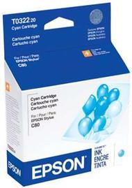 Epson T032220 Cyan Ink Cartridge Original Genuine OEM