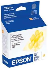 Epson T032420 Yellow Ink Cartridge Original Genuine OEM