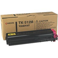 Kyocera Mita TK-512M Magenta Toner Cartridge Original Genuine OEM