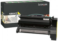 Lexmark 10B041Y Yellow Return Program Toner Cartridge Original Genuine OEM
