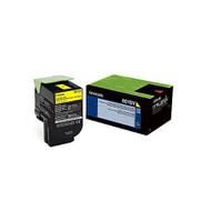 Lexmark 80C1SY0 Yellow Toner Cartridge Original Genuine OEM