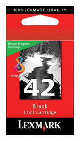 Lexmark 18Y0142 (#42) Return Program Black Ink Cartridge Original Genuine OEM
