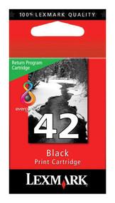 Lexmark 18Y0142 (#42) Return Program Black Ink Cartridge Original Genuine OEM