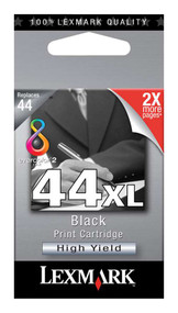 Lexmark 18Y0144 (#44XL) High Yield Black Ink Cartridge Original Genuine OEM