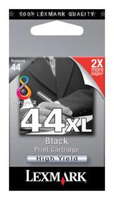 Lexmark 18Y0144 (#44XL) High Yield Black Ink Cartridge Original Genuine OEM