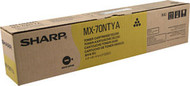 Sharp MX-70NTYA Yellow Toner Cartridge Original Genuine OEM