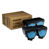 Toshiba T3580 4-Pack Black Toner Cartridge Original Genuine OEM