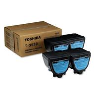 Toshiba T3580 4-Pack Black Toner Cartridge Original Genuine OEM