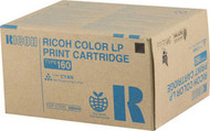 Ricoh 888445 (Type 160) Cyan Toner Cartridge Original Genuine OEM