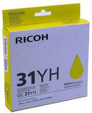 Ricoh 405704 High Yield Yellow Toner Cartridge Original Genuine OEM