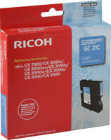 Ricoh 405533 Cyan Ink Cartridge Original Genuine OEM