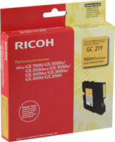 Ricoh 405535 Yellow Ink Cartridge Original Genuine OEM