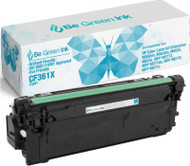 Be Green Ink HP CF361X 508X Cyan Compatible Toner Cartridge for use in HP m553dn, Color LaserJet Enterprise M552, M552dn, M553, M553n, M553x, HP Flow MFP M557, M557c, M577z, M577f, M577dn