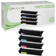 Brother TN433BK,TN433C,TN433M,TN433Y Toner High Yield 4 Pack Savings Compatible