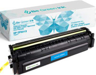 Be Green Ink HP 202X CF501X MFP M281fdw M254dw Cyan Compatible Toner Cartridge for LaserJet Pro MFP M281cdw M281fdn M254nw M254dn M280 (Cyan 3,200 Yield) (CF501X Cyan)