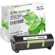 51B1H00 - Be Green Ink Compatible Replacement Black Toner Cartridge for Lexmark MS417dn MS517dn MS617dn MX417de MX517de MX617de - 51B1H00 Black Toner (High Yield)