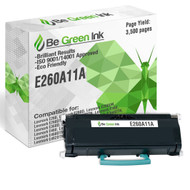 E260A11A - Be Green Ink Compatible Replacement Black Toner Cartridge for Lexmark E260, E260D, E260DN, E260DT, E260DTN, E360, E360D, E360DN, E360DTN, E460, E460D, E460DN, E460DTN, E460DW, E462, E462DTN - E260A11A