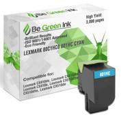 80C1HC0 801HC Be Green Ink Compatible Replacement Cyan Toner Cartridge for Lexmark CX410de CX510de CX410dte CX410e CX510dthe CX510dhe - 80C1HC0 801HC (High Yield)
