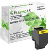 80C1HY0 801HY Be Green Ink Compatible Replacement Yellow Toner Cartridge for Lexmark CX410de CX510de CX410dte CX410e CX510dthe CX510dhe - 80C1HY0 801HY (High Yield)