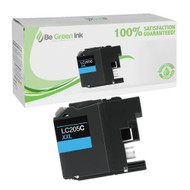 Brother LC205C High Yield Cyan Ink Cartridge BGI Eco Series Compatible
