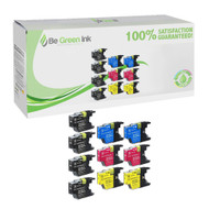 Brother LC75 Ink Cartridge Savings Pack (Includes 4 Black, 2 Each C/M/Y) BGI Eco Series Compatible