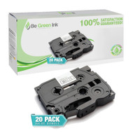 "Brother TZe221 Black on White P-Touch Label Tape 3/8"" x 26' 20-Pack Savings Pack ($7.42/ea) BGI Eco Series Compatible"