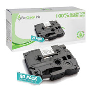 "Brother TZe231 Black on White P-Touch Label Tape 1/2"" x 26' 20-Pack Savings Pack ($7.42/ea) BGI Eco Series Compatible"