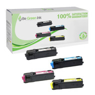 Dell Color Laser 1320C Toner Cartridge Savings Pack (Full Set of K/C/M/Y) BGI Eco Series Compatible