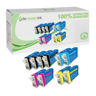 Epson T124 Remanufactured Ink Cartridge 10-Pack Savings Pack BGI Eco Series Compatible