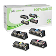 HP 122A Color LaserJet 1500, 2500, 2550 Laser Toner Cartridge Savings Pack (K,C,M,Y) BGI Eco Series Compatible