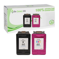 HP 60 (CD947FN#140) Remanufactured Ink Cartridge Two Pack Savings Pack BGI Eco Series Compatible