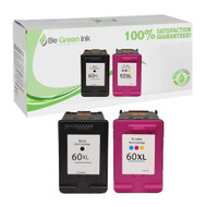 HP 60XL Remanufactured Ink Cartridge Two Pack Savings Pack BGI Eco Series Compatible